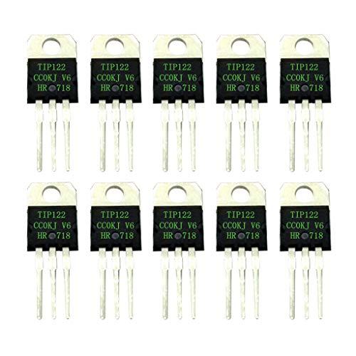 10 Stk. Tip122 Darlington Transistor Halbleitervorrichtung 5a / 100v Npn