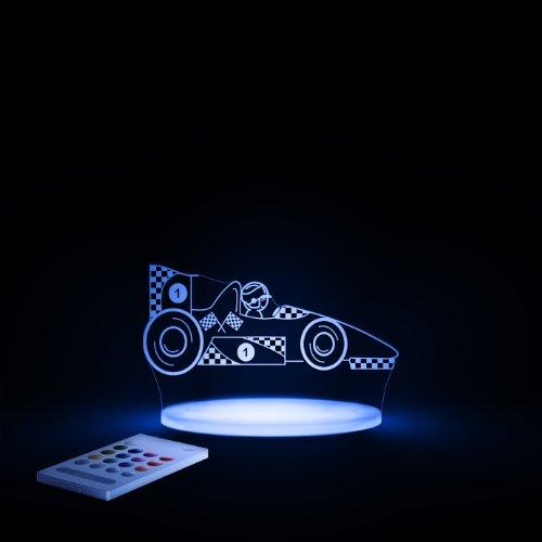 Preisvergleich Produktbild LED Nachtlicht Rennauto mehrfarbig für Kinder mit Fernbedienung