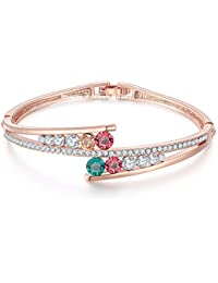 Jewels Galaxy Exclusive Luxuria Collection Copper Charm Bracelet for Women (Multi-Colour)(BNG-3121)