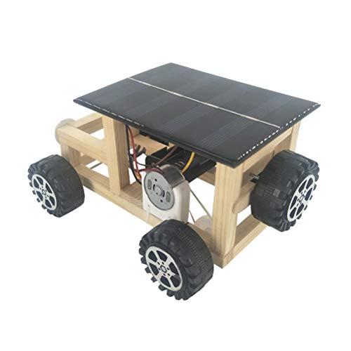 YeahiBaby Conjunto de Madera de Bricolaje Kit de Modelo de Coche Alimentado por energía Solar Juguetes educativos educativos científicos Hechos a Mano Divertidos (Color al Azar)