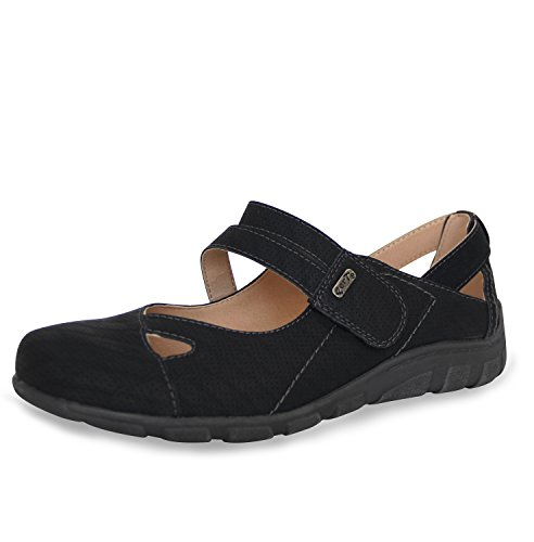 PerTe Damen Halbschuhe Bequeme Mary Jane Ballerinas Komfort Schuhe
