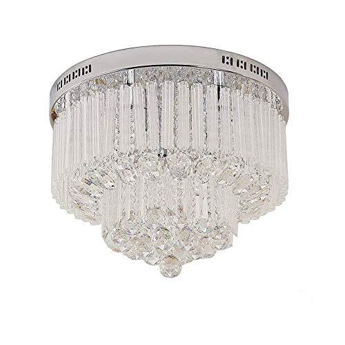 ASDF LED Kristall Deckenleuchte Deckenlampe Luxuriös Modern Kronleuchter Rund 9X G9(25W) für Wohnzimmer Restaurant Hotel Küche Villa Balkon Flur usw.(Leuchtmittel erhalten) -