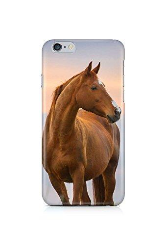 COVER Pferd braun Tier Profil Design Handy Hülle Case 3D-Druck Top-Qualität kratzfest Apple iPhone 6 Plus