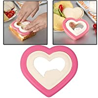 Home Kitchen Bakeware Cake Tools DIY Breakfast Heart Shape Sandwich Toast Bread Biscuit Bento Maker Sushi Mold Cutter Tool Pack of 1 (With Free Token)