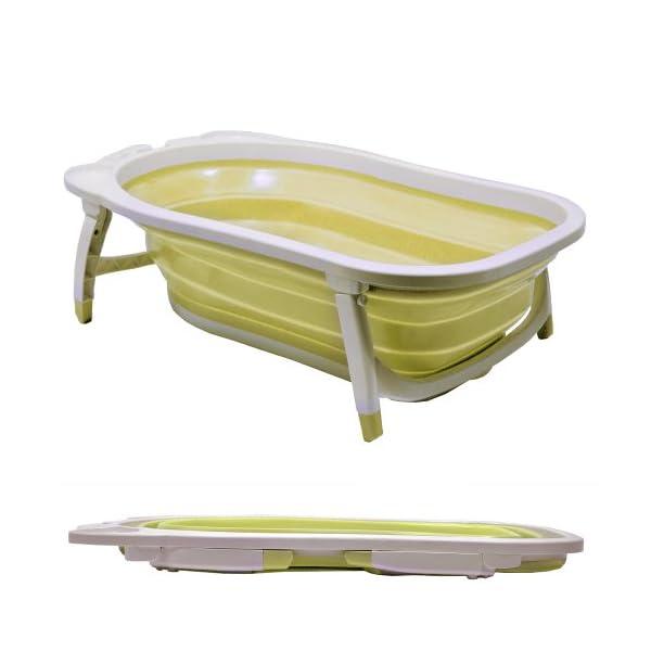 WATSONS BABY - Splashy Plastic Folding Fold Away Baby Bath - White/Lemon 1