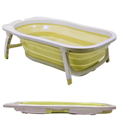 WATSONS BABY - Splashy Plastic Folding Fold Away Baby Bath - White/Lemon