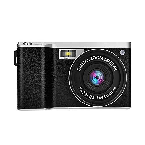 Videocámara con cámara Digital GordVE, videocámara con cámara de Video Full HD 1080p 24.0MP con Lente Gran Angular, Pantalla táctil de 4.0 Pulgadas Zoom Digital 8X