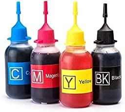 PPS Dye Refill Ink for Use in Brother J 3520/3720 Printers Compatible with Brother LC 589/583 Ink Cartridges