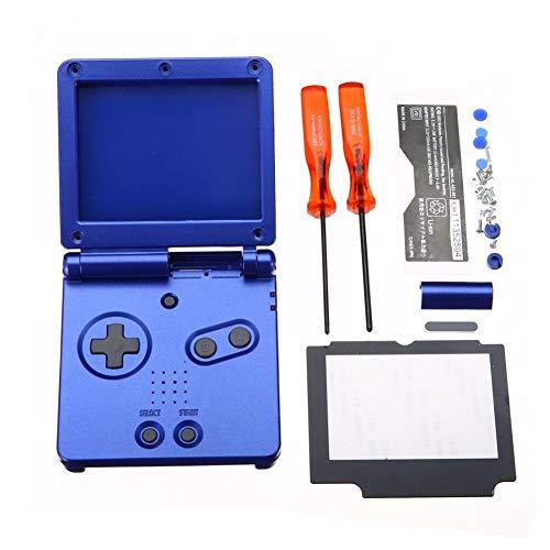 hwangli Konsolen-Gehäuse Gehäuse Gehäuse Screen Linse Schraubendreher Kits Werkzeug für Nintendo GBA SP blau -