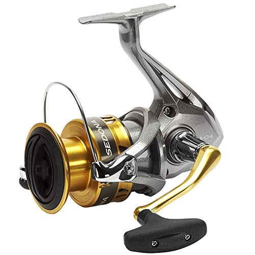 SHIMANO Sedona 6000 FI, Spinning Angelrolle mit Frontbremse (Reel Offshore Spinning)