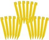 com-four® 18x Zelt-Heringe aus Kunststoff - Erdnägel für Camping und Outdoor - ideal für normalen Boden