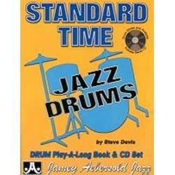 AEBERSOLD DAVIS STEVE   STANDARD TIME + CD   BATTERIE PARTITION JAZZ&BLUE CUIVRE ET PERCUSSION PERCUSSION