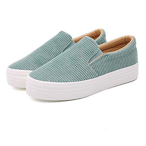 Scarpe casuali classiche donna / donna, primavera e autunno moda scarpe piane semplici tre colori per la scelta Green