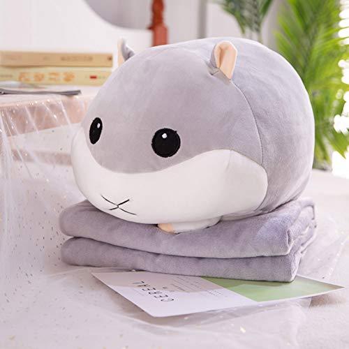 Hamster Plüschtier Puppe Sommer cool ist multifunktionale Kissen Kissen-Grey -