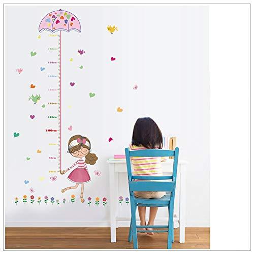 WDXIN Kind Körpergröße Messen Wandsticker Rosa Design PVC-Material Leicht zu reinigen Geeignet zum Dekorieren von Kinderzimmern, Schlafzimmern