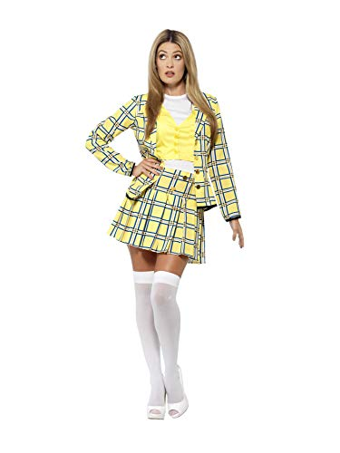 Official Clueless Cher Costume - Chequered Suit with Knee High Socks - 2 Sizes
