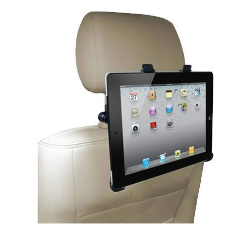 Time2® Apple iPad Samsung Tablets - Universal In Car Headrest - Back Seat Mount Cradle - In car entertainment