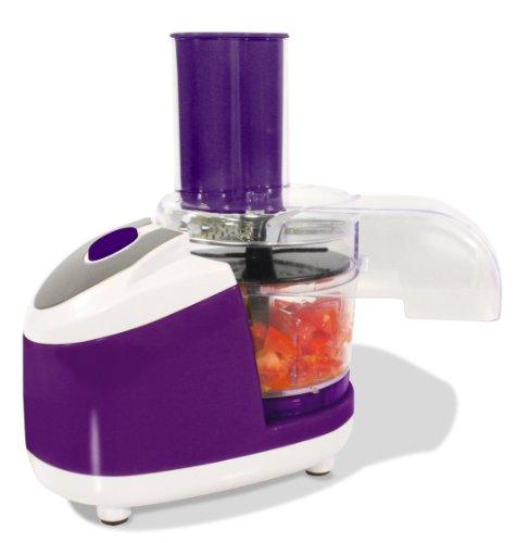 Küchenmaschine Universalzerkleinerer | Elektrischer Gemüsezerkleiner als idealer Küchenhelfer | Mini Chopper für Gemüse, Obst & Fleisch | Lila