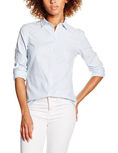 Pieces Pckarmen Striped Shirt Noos, Chemise Femme Multicolore (Light Blue)