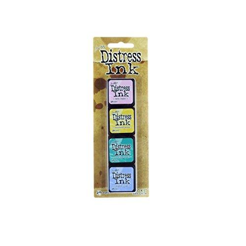 Ranger 15TDPK40347 Tim Holtz Mini Distress Ink Kit 4, Plastik, mehrfarbig, 10 x 2,5 x 1,3 cm (Distress Reinker Ink)