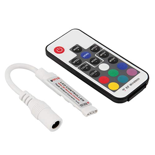 LouiseEvel215 Control remoto portátil Mini RF inalámbrico Led Dimmer controlador universal para Tira de luz LED SMD5050 / 3528/5730/5630/3014