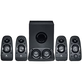 Logitech Z906 Stereo Speakers 3D 5.1 Dolby Surround Sound, THX, 1000 on logitech z-2300, logitech z 340, logitech z cinema, logitech z series, logitech subwoofer wiring diagram,