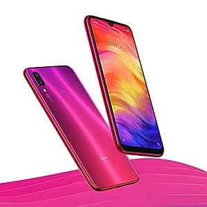 Xiaomi Redmi Note 7 Smartphones de 6.3'' Pantalla Completa, 4GB RAM + 128GB ROM, Snapdragon 660 procesador Octa-Core, 13MP Delantero y 48MP + 5MP Doble cámara Trasera Teléfonos móviles