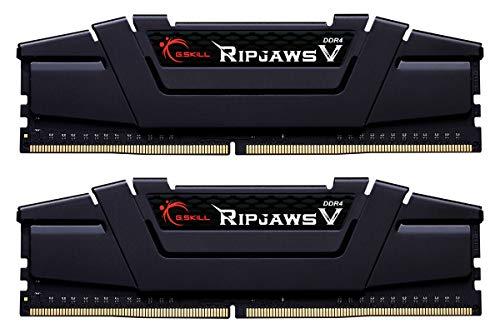 Gskill F4-3200C16D-32GVK Memory D4 3200 32GB C16 RipV K2 2X 16GB, 1,35V, RipjawsV schwarz
