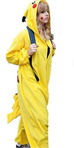WOWcos® Unisex Adult Pikachu Onesie Cosplay Costume Pajamas Animal Kigurumi Halloween Xmas Gift - 41THU11TUrL - WOWcos® Unisex Adult Pikachu Onesie Cosplay Costume Pajamas Animal Kigurumi Halloween Xmas Gift