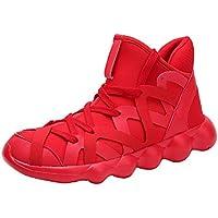 ☺HWTOP Herren Sneakers Sportschuhe Laufschuhe Plateauschuhe Turnschuhe Fashion Männer Trend Schnürstiefel Schuhe Trainer Outdoor Freizeitschuhe Fitnessschuhe mit Klettverschluss