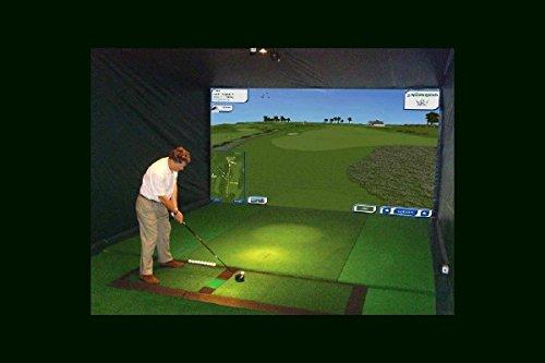 XS Golfsimulator, 2 x 3 m Großbildleinwand MIETEN, animierte Bilder