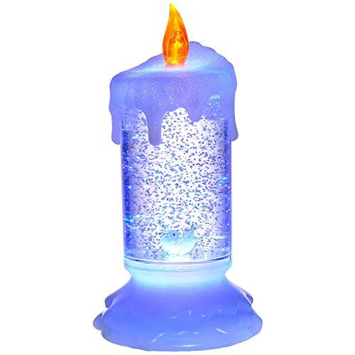 WeRChristmas LED Magische Farbwechsel Schwimmende Glitzernde Kerze Weihnachten Dekoration, mehrfarbig, 19cm