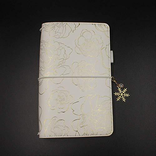 QWSAE notebook Traveler's Notebook Standard Formato Caldo Stampaggio Copertina Personal Diary Planner Regalo Cancelleria Magazzino Forniture Scuola Standard 11x21cm Copertina N Ciondolo