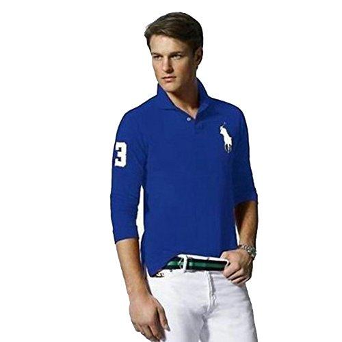 Ralph Lauren Langarm Poloshirt Big Pony Custom Fit (XL, Blau) -