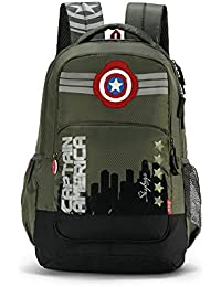 Skybags Sb Marvel 31.1328 Ltrs Olive School Backpack (SBMRV07OLV)