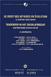 Le droit des affaires en évolution : Le contrat sans papier