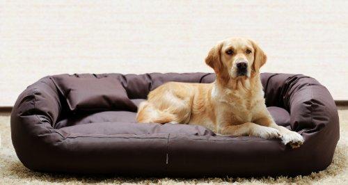 tierlando® A1-01 ARES Extra ROBUST Hundesofa Hundebett Gr.XL110cm Braun - 3