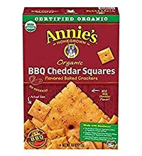 Annie'S - Organic Flavored Baked Crackers BBQ Cheddar Squares 7.5 Oz. 177033