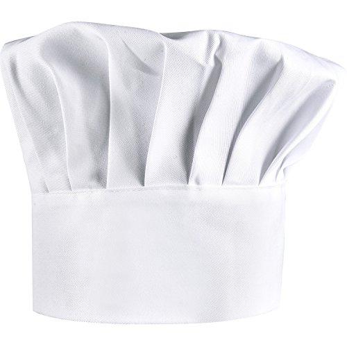 Shappy 2 Pezzi Cappelli da Cuoco Cotone Regolabile Elastico Cappelli da Chef, Adulto Cappelli da Chef, Bianco
