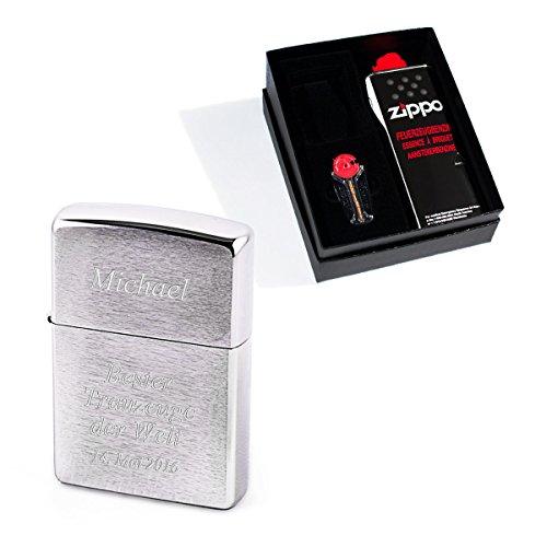 Diamandi Zippo Feuerzeug mit persönlicher Gravur | gravieren Lassen | Chrom Gebürstet 8