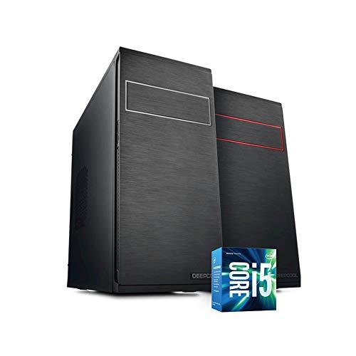 Pc desktop intel i5 7400 3,50 ghz grafica intel hd 630 8gb ddr4 windows 10 pro 1tb hdd pc assemblato pc fisso da ufficio casa completo hd pronto usb 3.0 case black elegante wifi