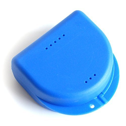 Zahnspangendose, Retainer- Dentalbox, KFO-Box Blau