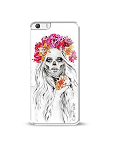 CareFone Printed Cover for Micromax Canvas Knight 2 E471 (Beautiful Skull)
