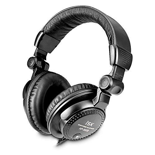 ZENWEN Kopfhörer Computer Karaoke Professional Recording Handy Musik Hostüberwachung Kopfhörer 3,5 mm Kabel Bass HiFi Stereo-Spiel Esports Mikrofon (schwarz)