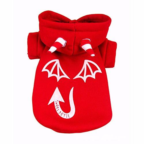 en Weihnachtsfeier leuchtend Luminous Hund Kleidung Kostüm Katze Bekleidung Rot (Rote Katze Halloween Kostüm)