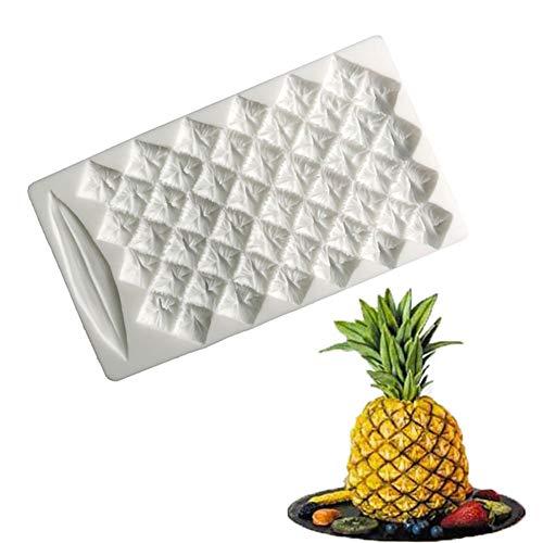 Makwes 1 Stück Ananas Form Silikon Backform DIY Fondant Schokolade Küche Backwerkzeug,Vorortreisen,Tägliches Backen,Küchenbedarf - zufällige Farbe
