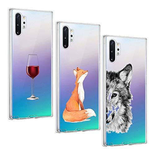 Oihxse-Case-ersatz-fr-Galaxy-Note-10-Hlle-Silikon-Ultra-Dnne-Durchsichtige-Transparent-Schlanke-Tasche-Kristall-TPU-Handyhlle-Bumper-Soft-Schutzhlle-fr-Galaxy-Note-10-Insgesamt-sind-DREI