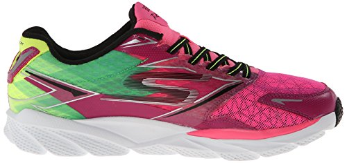 Skechers Go Run Ride 4, Chaussures de running femme Rose (Hplm)