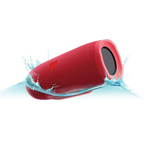 Charge 3 Portable Bluetooth Speaker Splashproof with Built-in Power Bank (Red)
