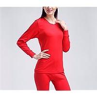 YMFIE Hombres y mujeres sencillos auto-cultivo cálido suave ropa de manga larga pantalones Set M-XXXL,el,j